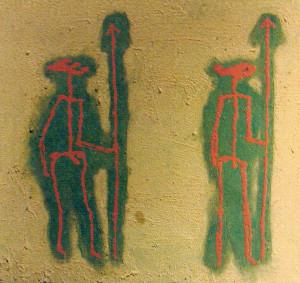 primitivo di riace - 2000 - t. mista - cm 50 x 50